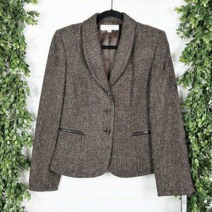 Tahari Wool Tweed Blazer Skirt Career Set Size 6